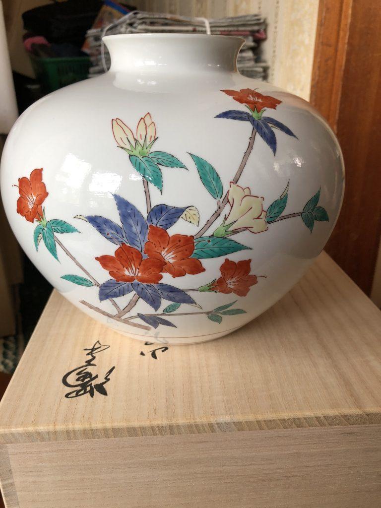 【静岡県湖西市】花瓶(柿右衛門)のお買取りをいたしました。